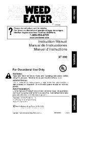 Instruction Manual Manual de Instrucciones Manuel d'lnstructions