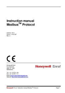 Instruction manual Modbus TM Protocol