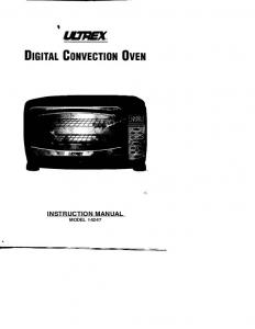 INSTRUCTION MANUAL MODEL 14247