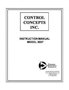 INSTRUCTION MANUAL MODEL 3037