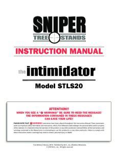 INSTRUCTION MANUAL. theintimidator. Model STLS20