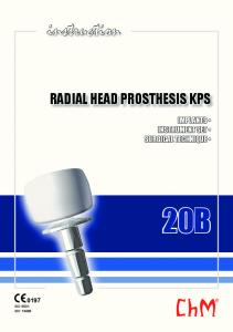 instruction RADIAL HEAD PROSTHESIS KPS IMPLANTS INSTRUMENT SET SURGICAL TECHNIQUE 20B 0197 ISO 9001 ISO 13485