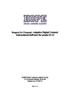 Instructional Software for grades K-12