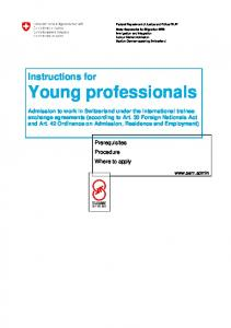 Instructions for Young professionals