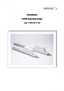 Instructions HTRW Rack drive series. Type: HTRW (24 V DC)