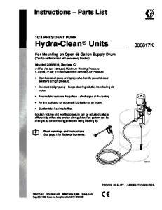 Instructions Parts List