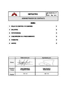 INSTRUCTIVO ADMINISTRADOR DE CONTRATO