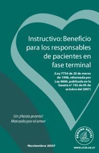 Instructivo: Beneficio para los responsables de pacientes en fase terminal