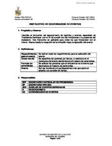 INSTRUCTIVO DE COORDINACION DE EVENTOS