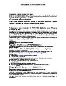 INSTRUCTIVO DE INSTALACION DE SPSS