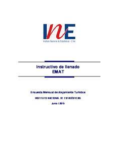 Instructivo de llenado EMAT