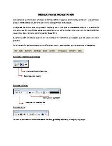 INSTRUCTIVO DE MICROSTATION
