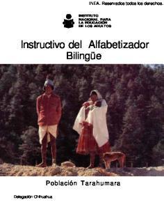 Instructivo del Alfabetizador