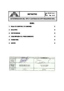 INSTRUCTIVO DETERMINACION DEL TIPO Y CANTIDAD DE EPP REQUERIDO MEL