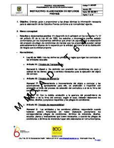 INSTRUCTIVO: ELABORACION DE ESTUDIOS PREVIOS