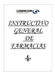 INSTRUCTIVO GENERAL DE FARMACIAS