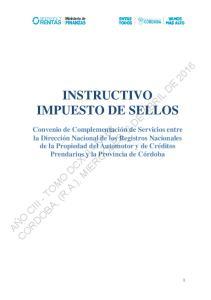 INSTRUCTIVO IMPUESTO DE SELLOS