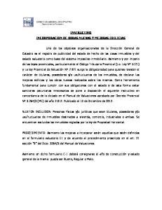 INSTRUCTIVO INCORPORACION DE OBRAS NUEVAS Y MEJORAS EDILICIAS
