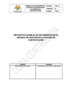 INSTRUCTIVO MANEJO DE DOCUMENTOS EN EL CONTRATACION