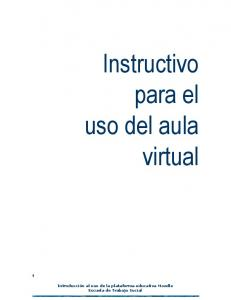 Instructivo para el uso del aula virtual
