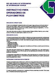 INSTRUCTIVO PARA OPERADORES DE PLUVIOMETROS