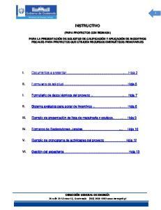 INSTRUCTIVO (PARA PROYECTOS CON BIOMASA)