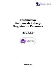 Instructivo Sistema de Citas y Registro de Personas SICREP