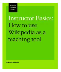 Instructor Basics: How to use Wikipedia as a teaching tool