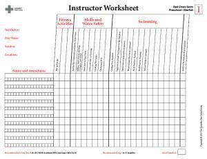 Instructor Worksheet