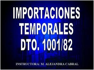 INSTRUCTORA: M. ALEJANDRA CABRAL