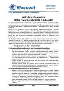 Instrukcja stosowania Delta T Marine lub Delta T Industrial