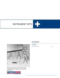 INSTRUMENT SETS SECTION BB. CONTENTS Instrument Sets 1-18