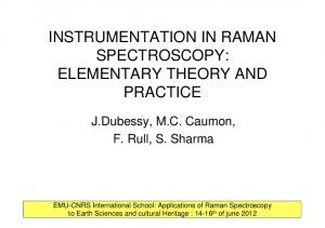 INSTRUMENTATION IN RAMAN SPECTROSCOPY: ELEMENTARY THEORY AND PRACTICE