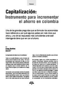 Instrumento para incrementar el ahorro en colombia