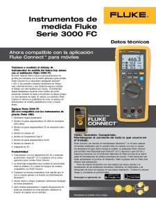 Instrumentos de medida Fluke Serie 3000 FC