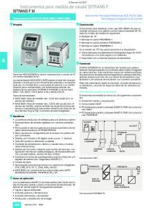 Instrumentos para medida de caudal SITRANS F