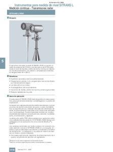 Instrumentos para medida de nivel SITRANS L