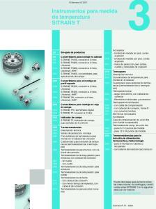Instrumentos para medida de temperatura SITRANS T