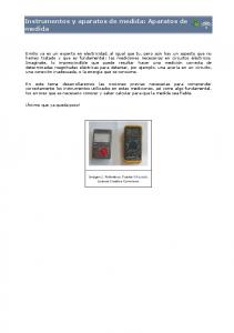 Instrumentos y aparatos de medida: Aparatos de medida
