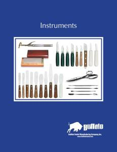 Instruments. Buffalo Dental Manufacturing Company, Inc