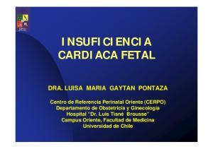 INSUFICIENCIA CARDIACA FETAL DRA. LUISA MARIA GAYTAN PONTAZA
