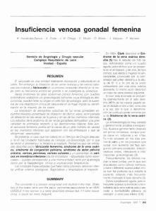 Insuficiencia venosa gonadal femenina