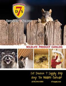 INSULATION PRODUCTS WILDLIFE PRODUCTS SAFETY
