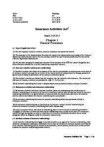 Insurance Activities Act 1
