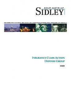 INSURANCE CLASS ACTION DEFENSE GROUP