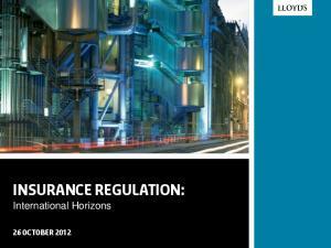 Insurance Regulation:
