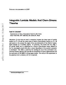 Integrable Lambda Models And Chern-Simons Theories