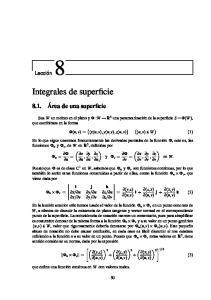Integrales de superficie