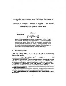 Integrals, Partitions, and Cellular Automata