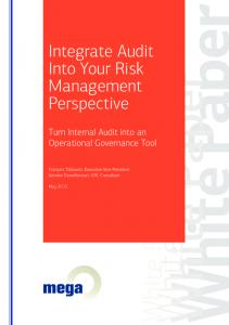 Integrate Audit Into Your Risk Management Perspective. Turn Internal Audit into an Operational Governance Tool